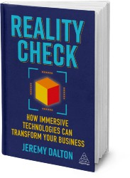 Reality Check depicted as a three dimensional hardback book